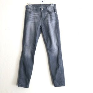 7 For All Mankind Gray Ankle Gwenevere Jeans 26